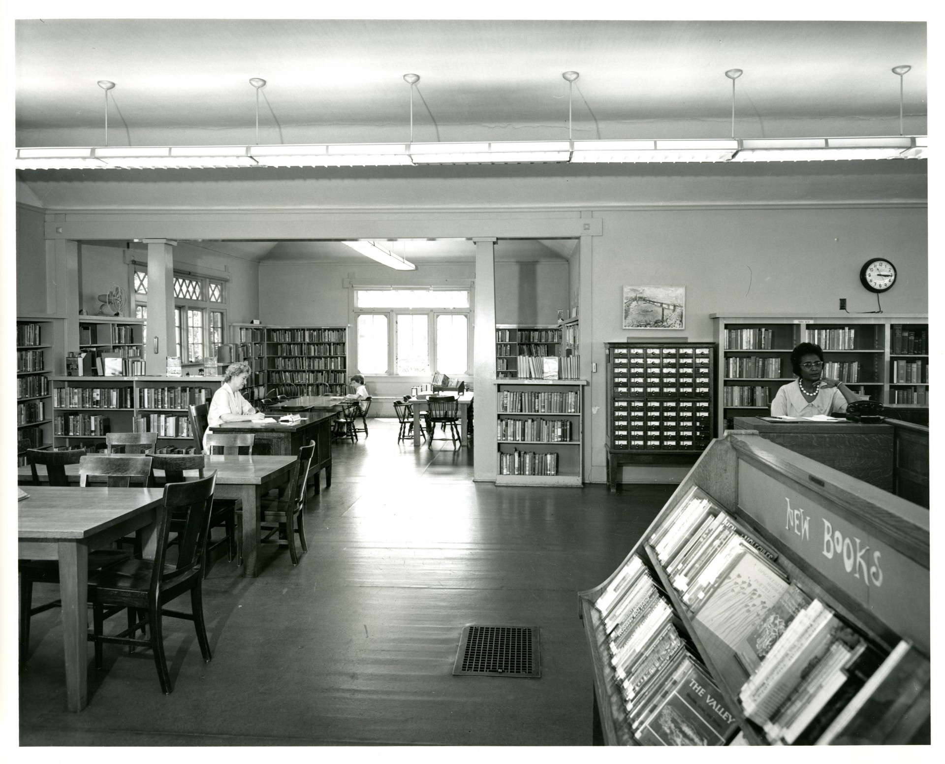Interior of the vernon library employees and patrons for Intranet interior