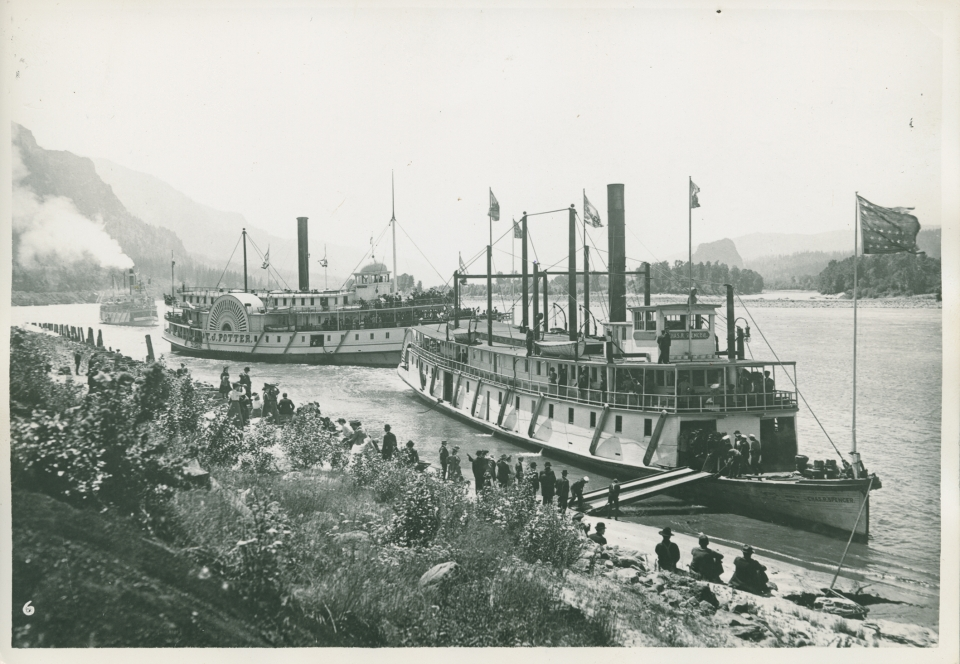 The Spencer and the Potter - Gatzert ships