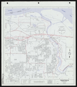 Map of Troutdale city limits