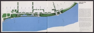 1975 map showing the development of the Portland Waterfront Park