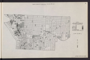 Map of Nonwhite households, by block, for Portland, Oregon 1940