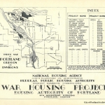 Index map of Portland Oregon and environs war housing projects